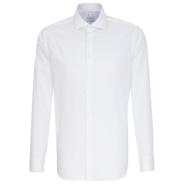 Seidensticker SHAPED Hemd TWILL weiss mit Spread Kent Kragen in moderner Schnittform