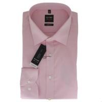 OLYMP Level Five body fit Hemd CHAMBRAY rosa mit New York Kent Kragen in schmaler Schnittform