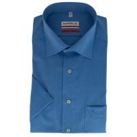 Marvelis MODERN FIT Hemd CHAMBRAY mittelblau mit New Kent Kragen in moderner Schnittform