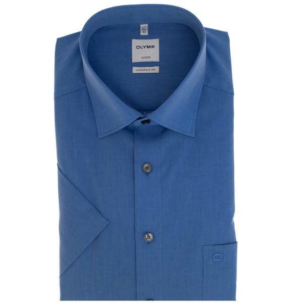 OLYMP Luxor comfort fit Hemd CHAMBRAY mittelblau mit New Kent Kragen in klassischer Schnittform