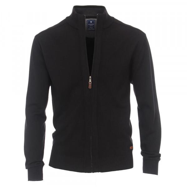 Redmond Strickjacke schwarz in klassischer Schnittform