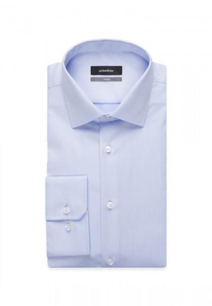 Seidensticker Hemd X-SLIM THE ORIGINAL hellblau mit Business Kent Kragen in super schmaler Schnittform