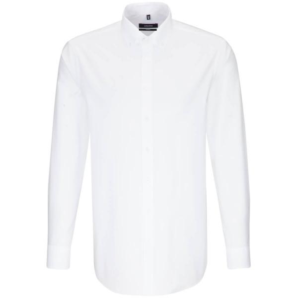 Seidensticker Hemd REGULAR FEIN OXFORD weiss mit Button Down Kragen in moderner Schnittform