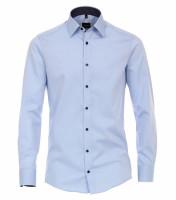 Venti Hemd MODERN FIT UNI POPELINE hellblau mit Kent Kragen in moderner Schnittform