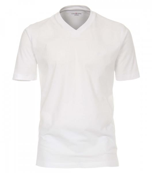 CASAMODA T-Shirt weiss in klassischer Schnittform