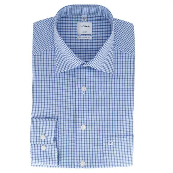 OLYMP Luxor comfort fit Hemd OFFICE dunkelblau mit New Kent Kragen in klassischer Schnittform
