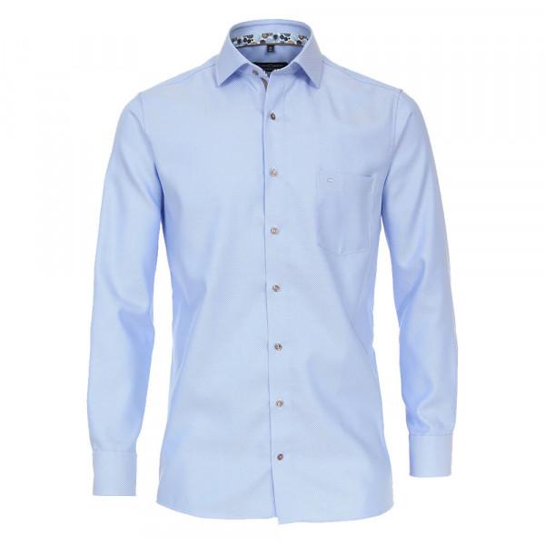 CASAMODA Hemd MODERN FIT STRUKTUR dunkelblau mit Button Down Kragen in moderner Schnittform