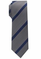 Eterna Krawatte grau gestreift