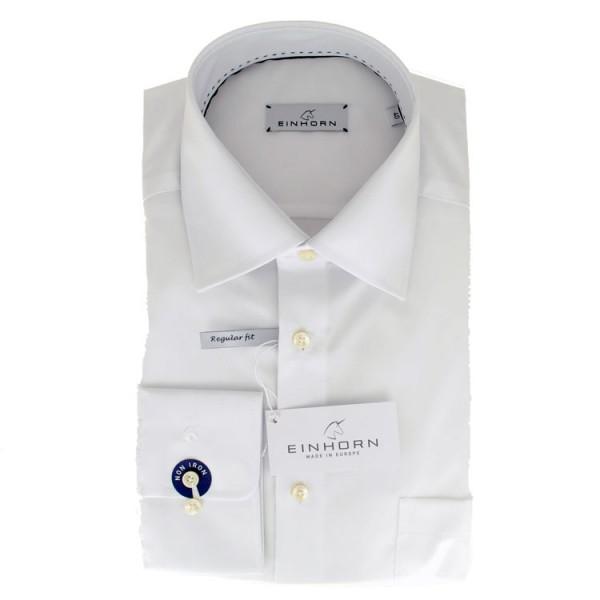 """Einhorn Hemd """"Derby"""" weiß mit Kent Kragen in klassischer Schnittform"""