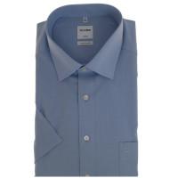 OLYMP Luxor comfort fit Hemd CHAMBRAY hellblau mit New Kent Kragen in klassischer Schnittform