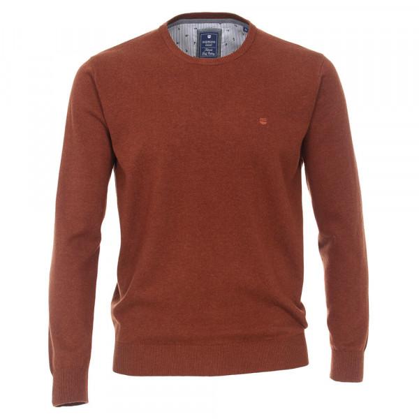 Redmond Pullover dunkelrot in klassischer Schnittform