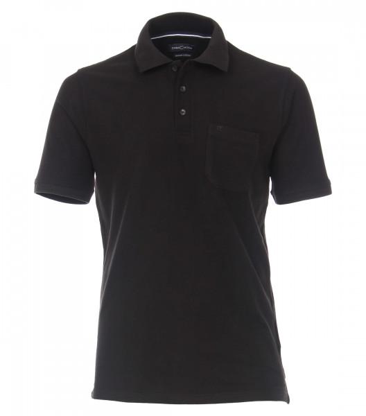CASAMODA Poloshirt schwarz in klassischer Schnittform