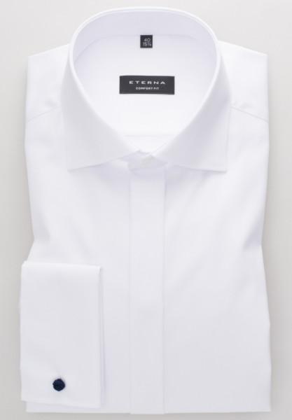 Eterna Hemd COMFORT FIT TWILL weiss mit Classic Kent Kragen in klassischer Schnittform
