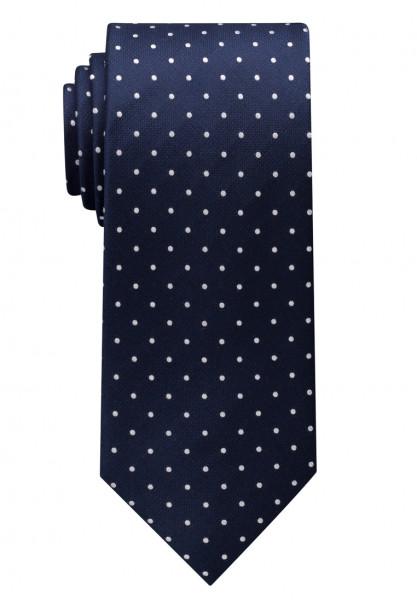 Eterna Krawatte dunkelblau getupft
