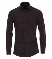 Venti Hemd MODERN FIT PRINT schwarz mit Kent Kragen in moderner Schnittform
