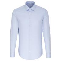 Seidensticker SLIM FIT Hemd STRUKTUR hellblau mit Business Kent Kragen in schmaler Schnittform
