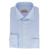 Marvelis MODERN FIT Hemd UNI POPELINE hellblau mit New Kent Kragen in moderner Schnittform
