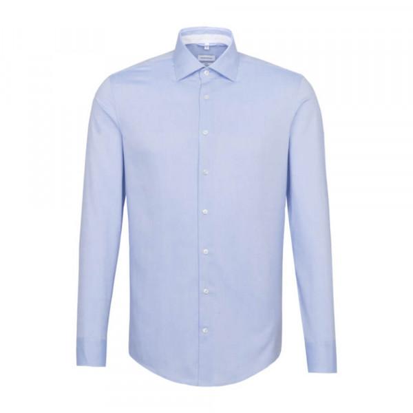 Seidensticker Hemd SLIM FIT FEIN OXFORD hellblau mit Light Kent Kragen in schmaler Schnittform