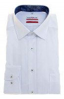 Marvelis MODERN FIT Hemd TWILL weiss mit New Kent Kragen in moderner Schnittform