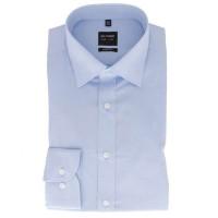 OLYMP Level Five body fit Hemd CHAMBRAY hellblau mit New York Kent Kragen in schmaler Schnittform