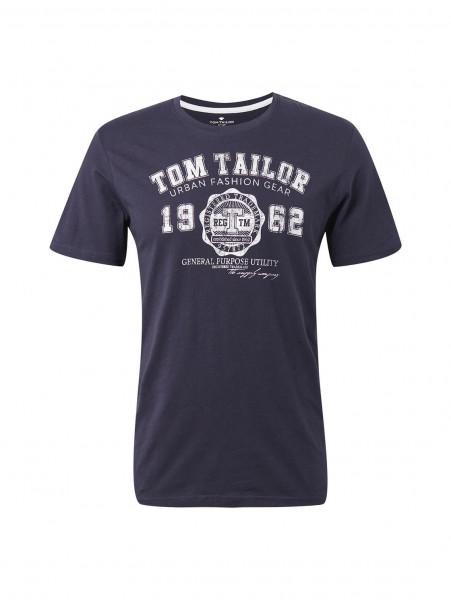 Tom Tailor T-Shirt dunkelblau in klassischer Schnittform